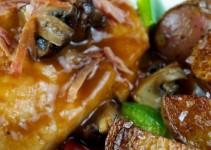 Pechugas de pollo con salsa de verduras