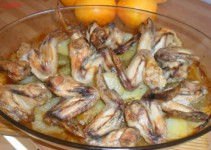 Alitas de pollo adobadas con yogur
