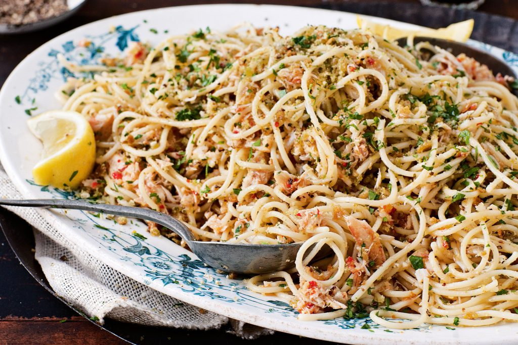 espaguetis con anchoas receta