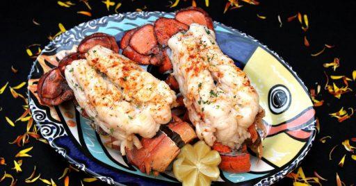 Colas de mar, receta a la gallega