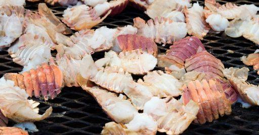 Colas de mar receta a la parrilla