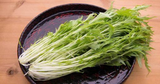Ensalada de mizuna siguiendo la receta japonesa