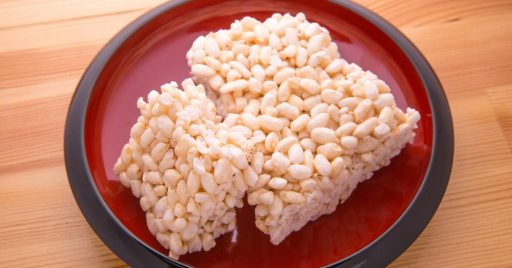Cereal de arroz inflado casero
